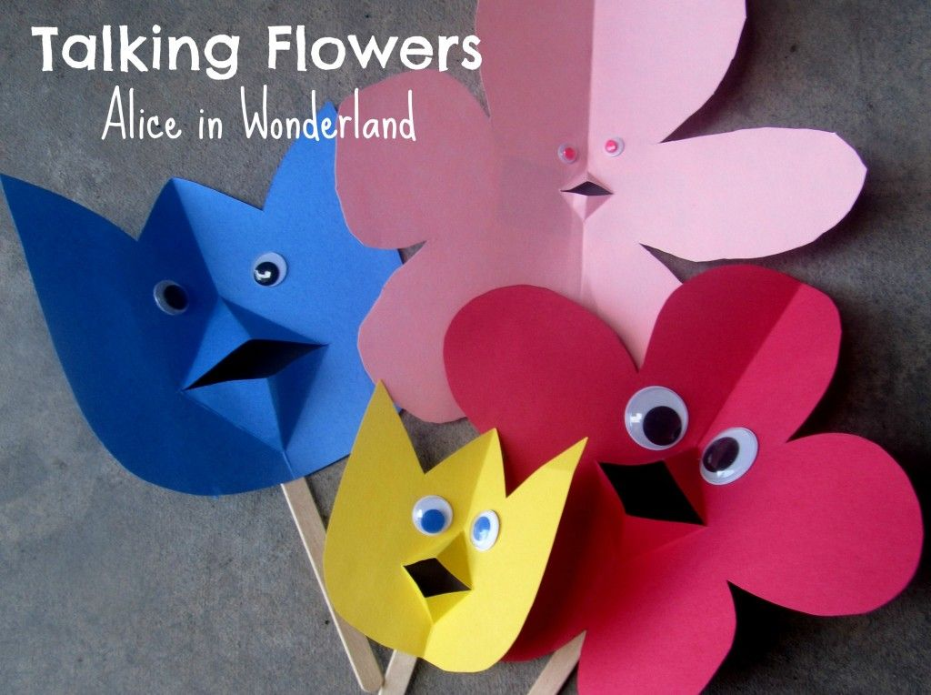 Disney 39 s alice in wonderland talking flowers craft for Alice in wonderland crafts