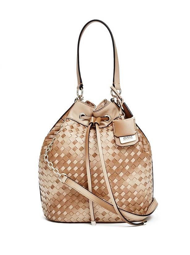 Zoie Drawstring Bucket Bag at Guess