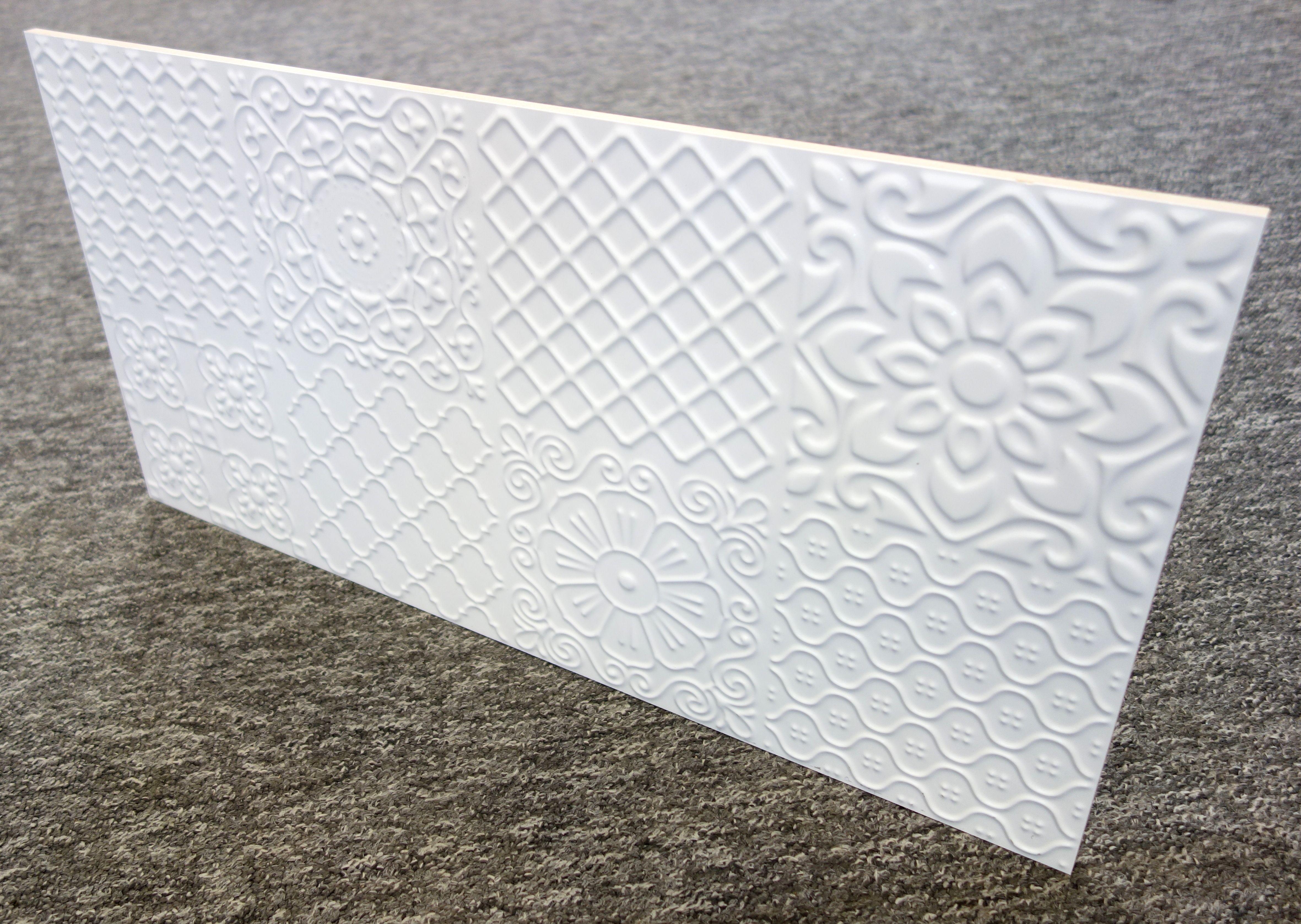 Płytki 3d Patchwork Carpet 60x30cm Biały Lazienka 528 W