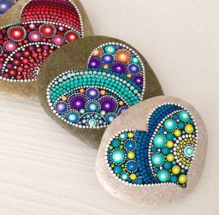 Painting Rocks Easy Etsy 46+ New Ideas #rockpainting