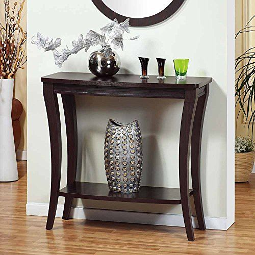 Modern Accent Foyer Entryway Console Sofa Side Table Display Stand Wood Rack New