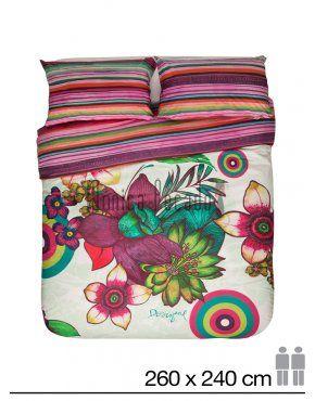 Desigual funda nordica tropikal 260 x 240 pack 135 20 ideas para el hogar pinterest - Desigual ropa de cama ...