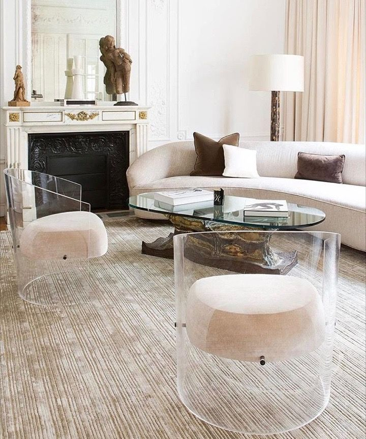 Lucite Barrel Chairs Living Spaces In 2019 Acrylic Furniture