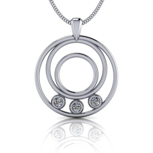 Charles & Colvard Forever Brilliant Moissanite Necklace 14 kt White Gold .30 CTW