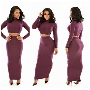 New Arrival Sexy Women Purple vestidos de fiesta Long Sleeve Bodycon Stretch Bandage Clubwear Nightclub Dress