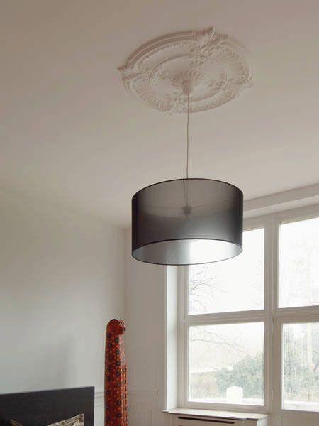 large decorative ceiling medallion with modern light fixture - - Details Make The Heart Grow Fonder Lighting Pinterest