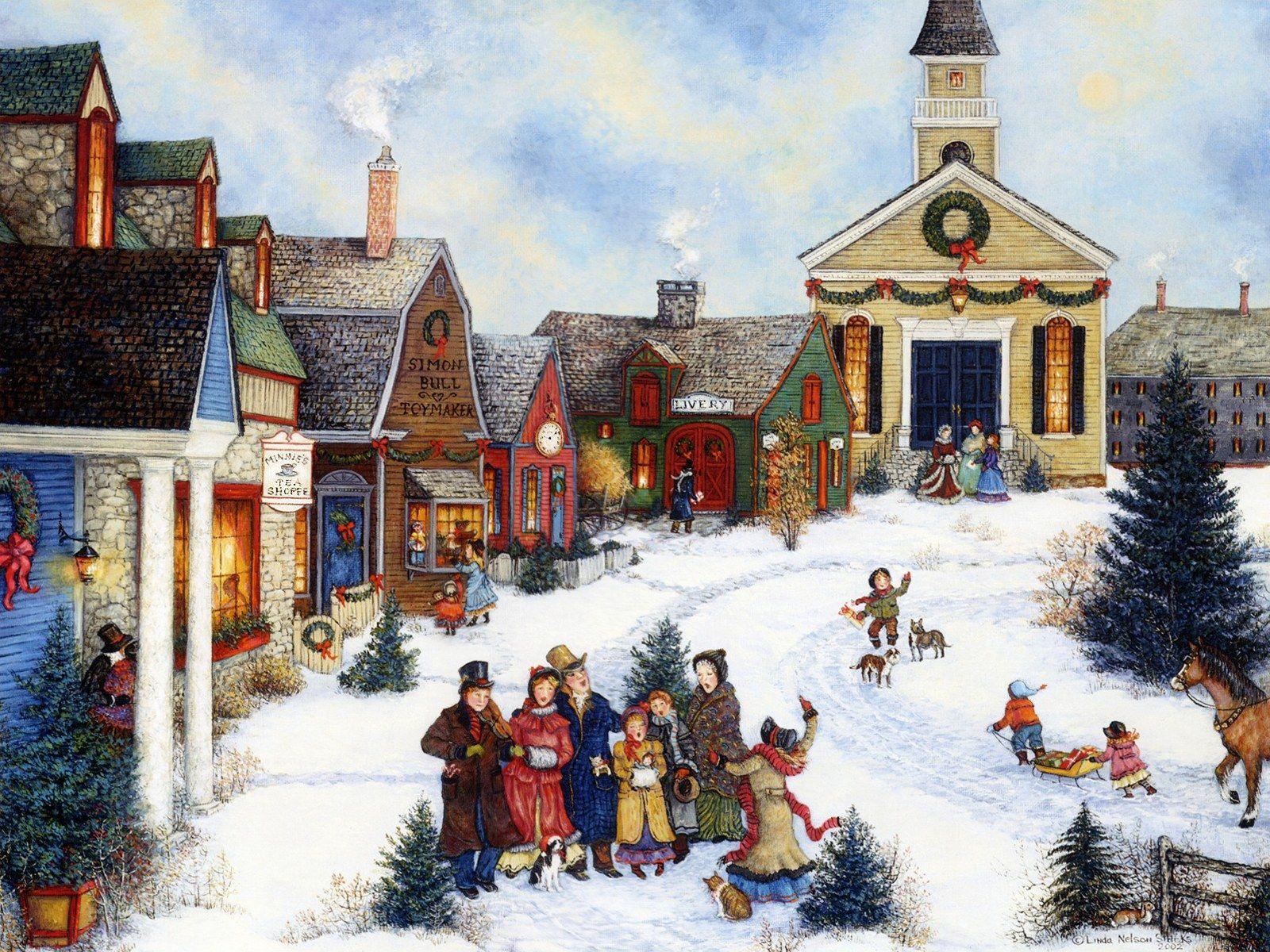 American Folk Art Linda Nelson Stocks Folk Art Painting