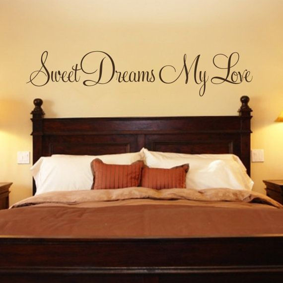 Bedroom Decal   Sweet Dreams My Love Vinyl Wall Decal   Bedroom Wall Decal    Bedroom Decor