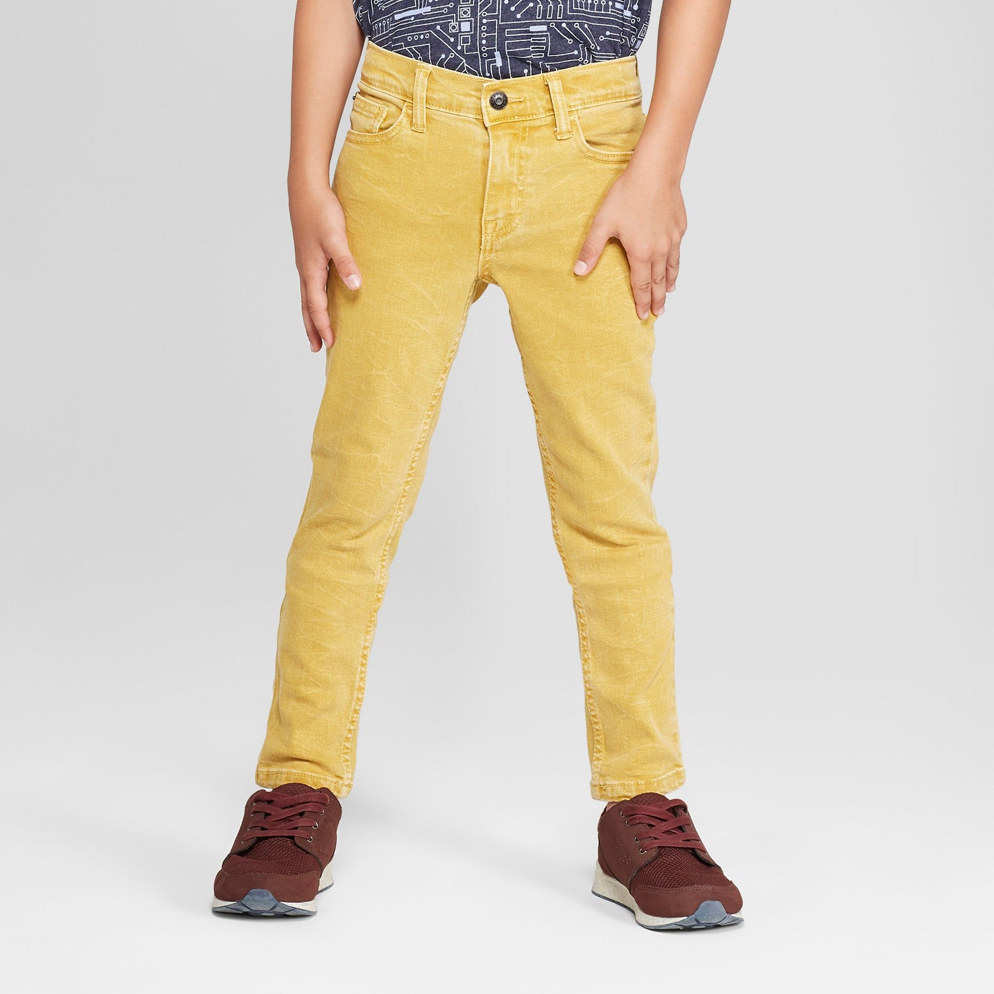 12609e9b4 Boys' Skinny Fit Jeans - Cat & Jack Yellow 16 | Products | Skinny ...