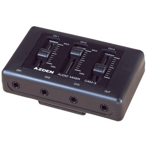 Azden Cam 3 On Camcorder Mini Audio Mixer By Azden 65 00 This Miniature 3 Channel Microphone Mixer Allows You To Add And Mix So Audio Mixer Audio Microphone