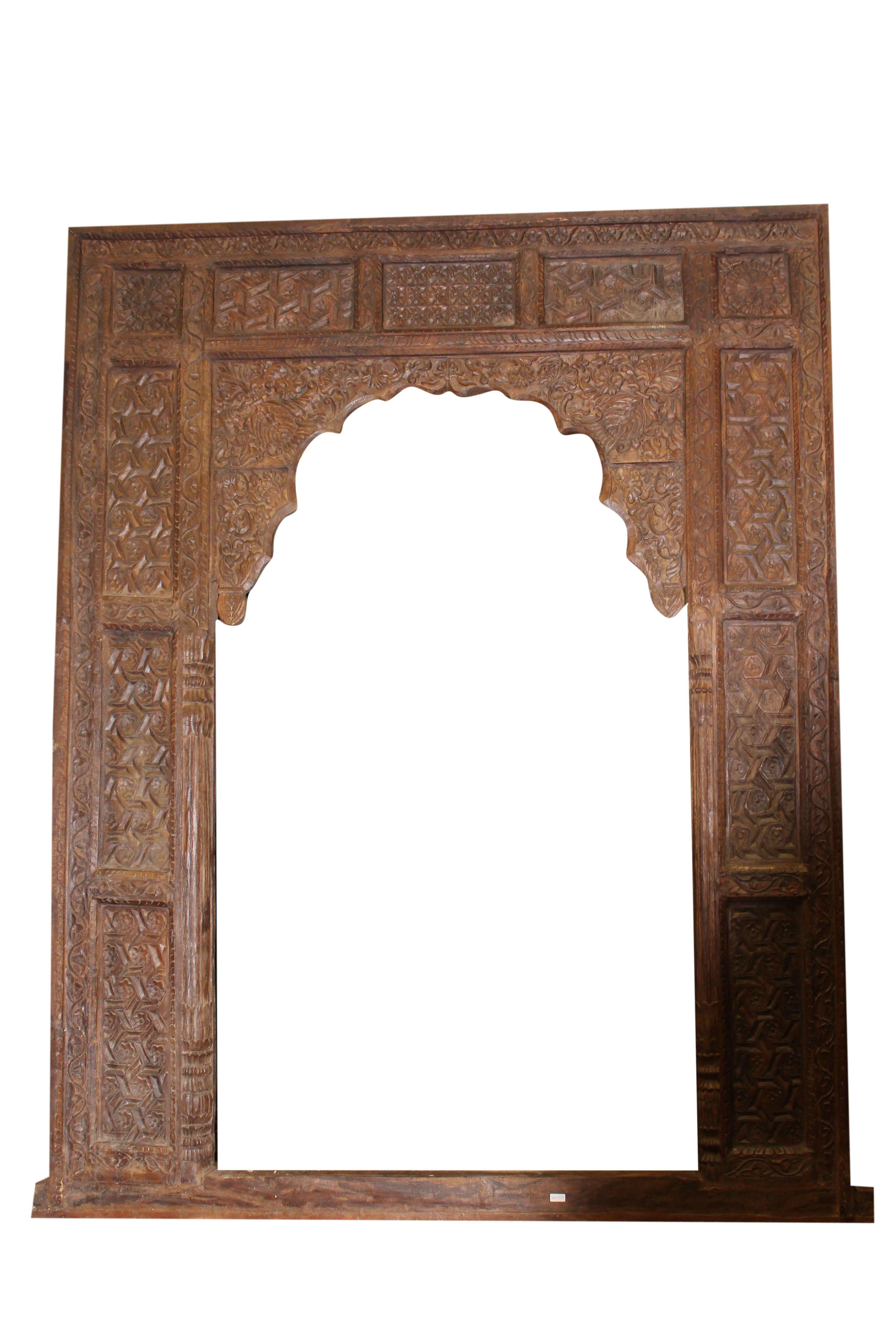 Antique Wooden Arch Indian Handcarving Door Frame Design Huge Archway Door Wooden Arch Door Frame Arched Doors