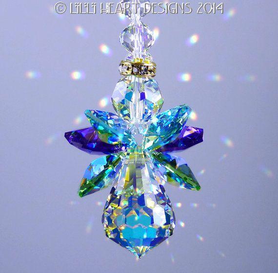 Suncatcher m w Swarovski Kristall das von LilliHeartDesigns auf - glasbilder für küchenrückwand