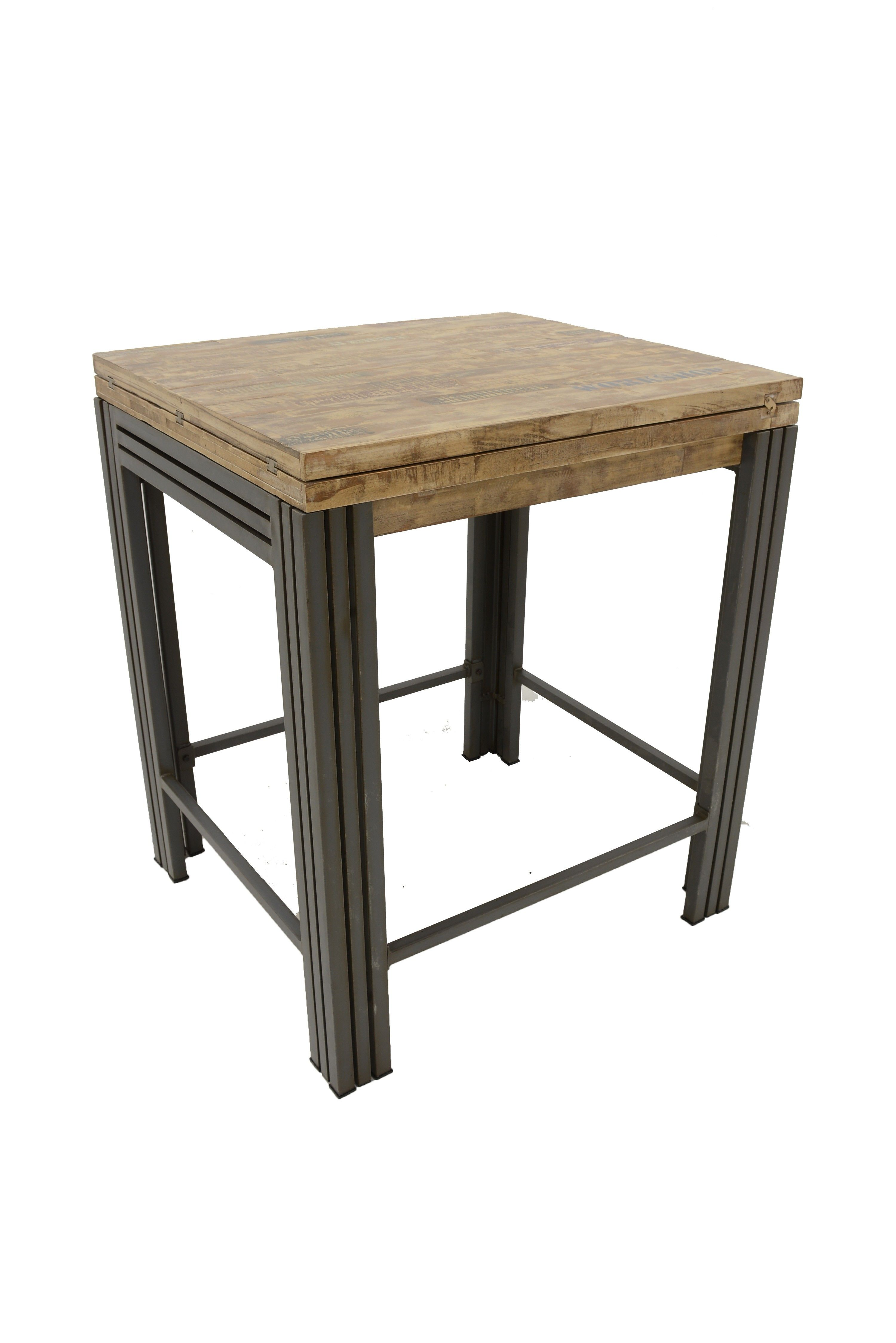 Table Bar Mange Debout Rectangle Extensible Hevea Recycle
