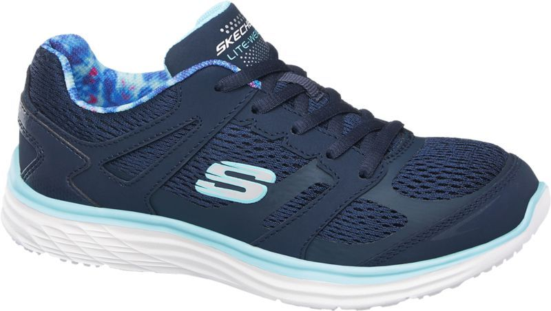 Der sportliche Sneaker von Skechers überzeugt durch kräftige Farben und  aufregende Details Die Light Weight Sohle ist weiß die Zwischensohle sorgt  in einem ... e169efd846