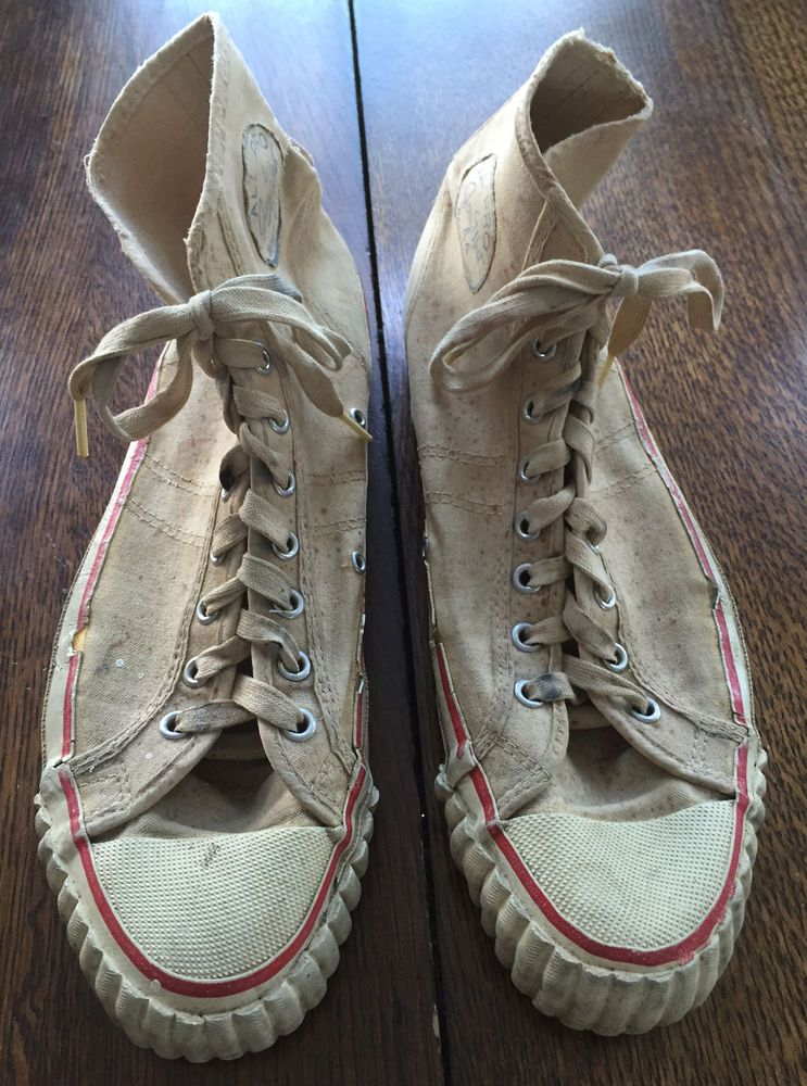 979ff23247c50 1960 s VINTAGE HIGH TOP JERRY WEST SNEAKERS TENNIS SHOES! MADE IN USA!