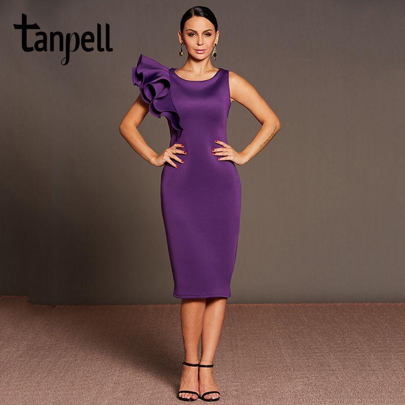Aliexpress.com: Comprar Tanpell mangas de volantes vestido de cóctel ...