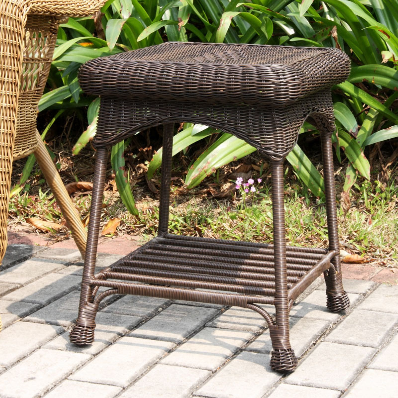 Jeco Outdoor Wicker Patio Furniture End Table In 2019 Products
