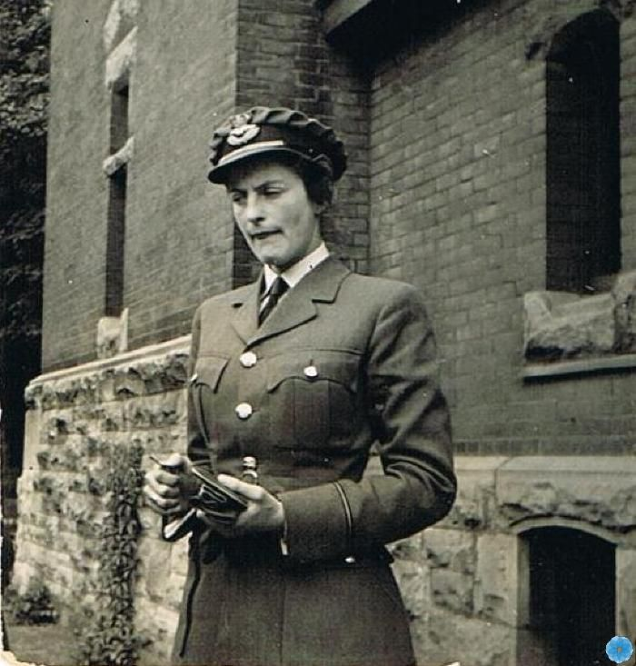 A photographic print of Barbara Avery Trites, one of the first women to join the R.C.A.F.'s women's division, who eventually became Flight Lieutenant of the division during World War II, circa 1939. Desbrisay Museum & Exhibition Centre, Bridgewater.