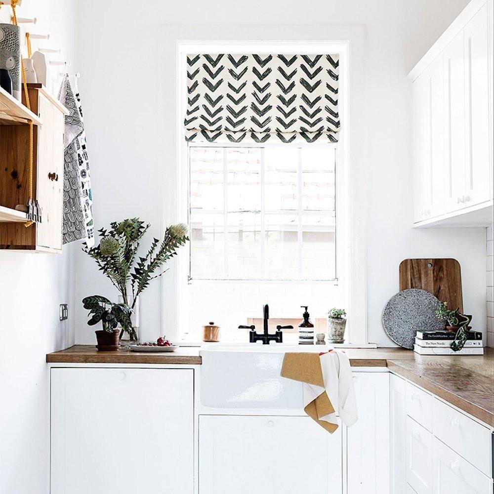 Kitchen window roman blinds   ways to update an ugly rental kitchen  interiors  pinterest