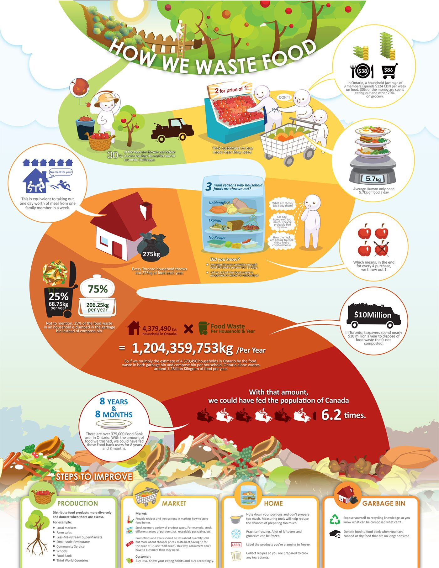 How We Waste Food From Sustainontario Created By Joanna