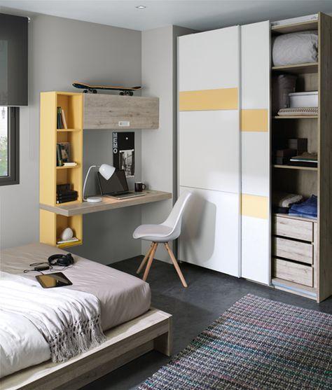 Dormitorio juvenil de la colección Ringo de Kibuc. | muebles jardin