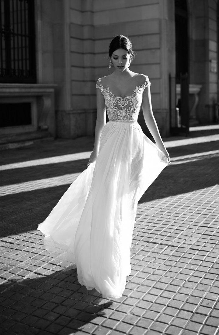 "Gali Karten 2017 Wedding Dresses ""Barcelona"" bridal collection | Itakeyou.co.uk #weddingdress #weddingdresses #bridaldress #bridalgown #laceweddingdress #bridaldress #weddinggown #uniquegown #capsleeves"