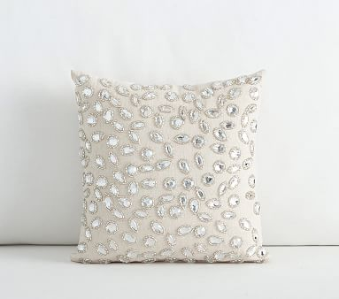 Mini Embellished Decorative Pillow 40x40 Inches Silver Bedding Mesmerizing 10x10 Decorative Pillows