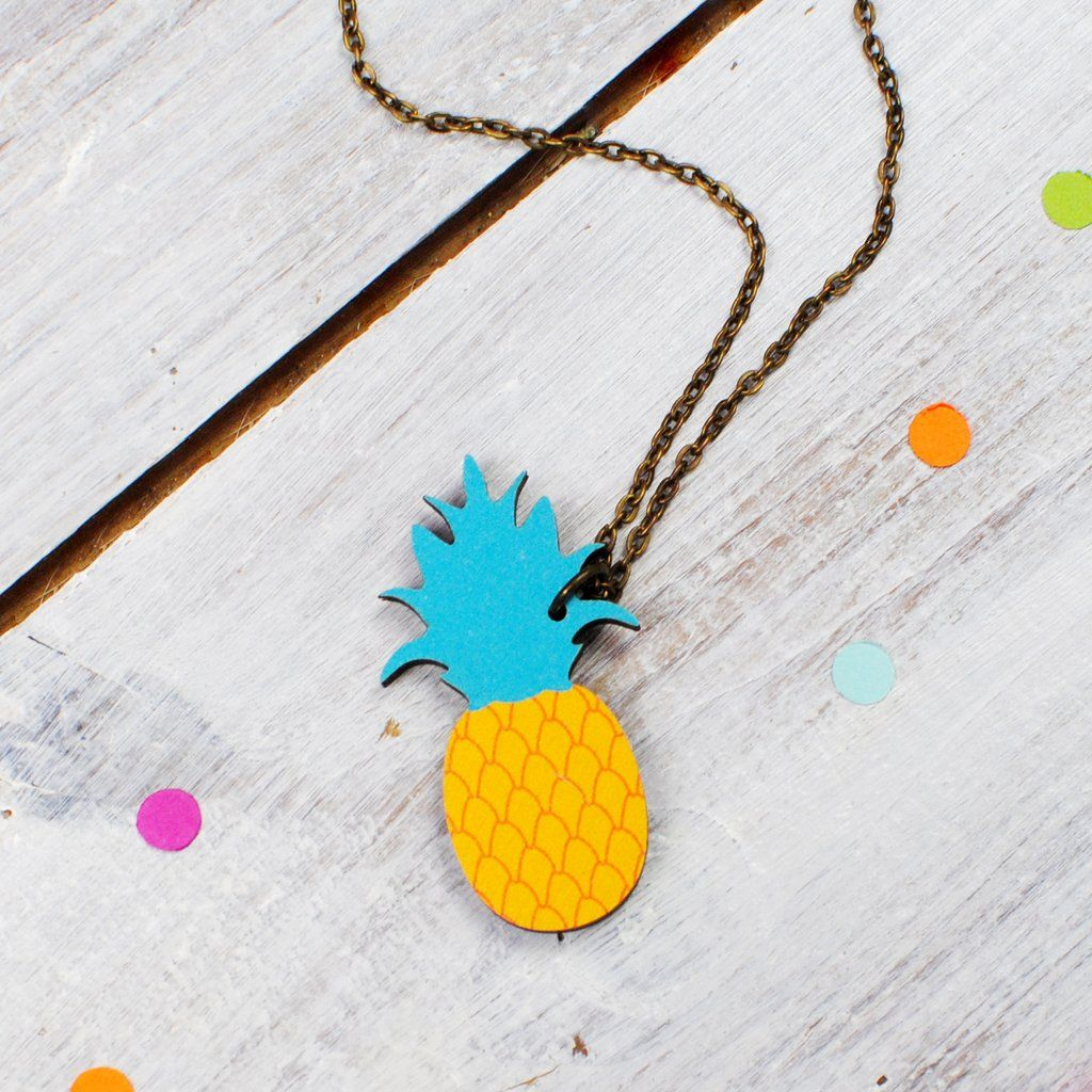 Add a bright pop of colour to your outfit with this fun, colourful Pineapple…