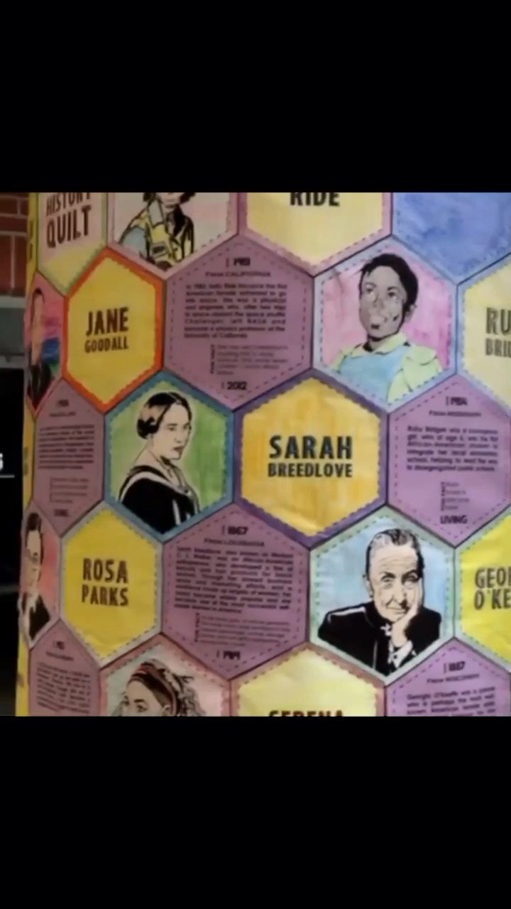 Photo of Women's History Month project