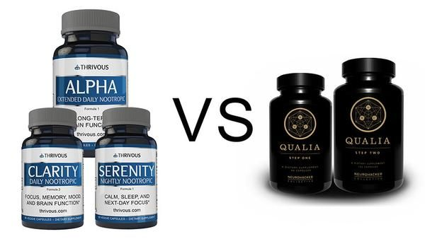 Neurohacker Collective Qualia Vs Thrivous Nootropic Stack Product