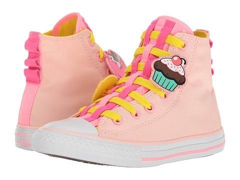 43a5f45527b537 Converse Kids Chuck Taylor All Star Loopholes Emoji Hi (Little Kid Big Kid)  Vaper Pink Fresh Yellow White - Zappos.com Free Shipping BOTH Ways