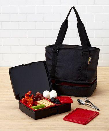 Look at this #zulilyfind! Black & Red Tote Set by Laptop Lunches Bento-ware #zulilyfinds