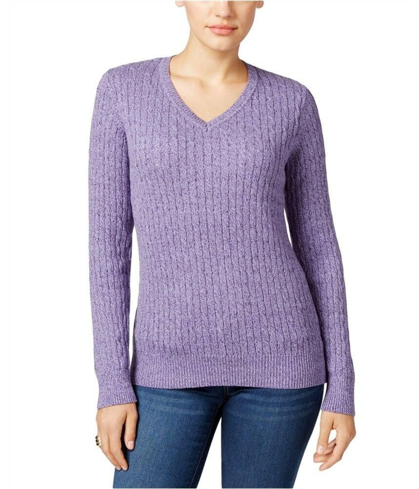 LF Purple Sweater Pullover Knit in Purple Size S (With