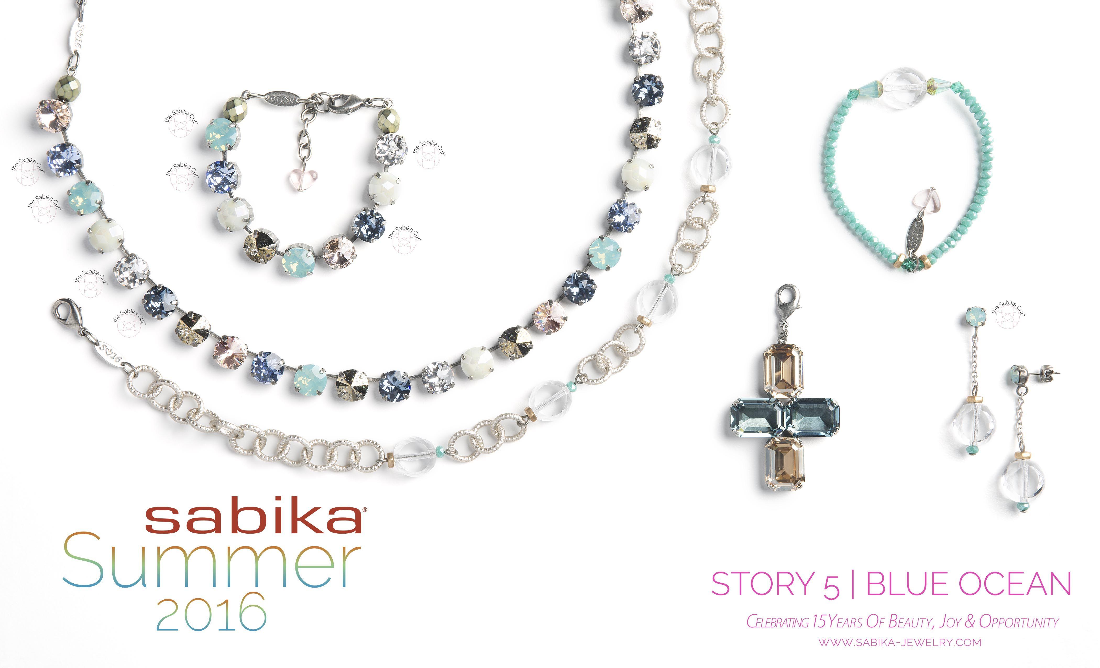 Sabika look necklace - Story 5 Blue Ocean