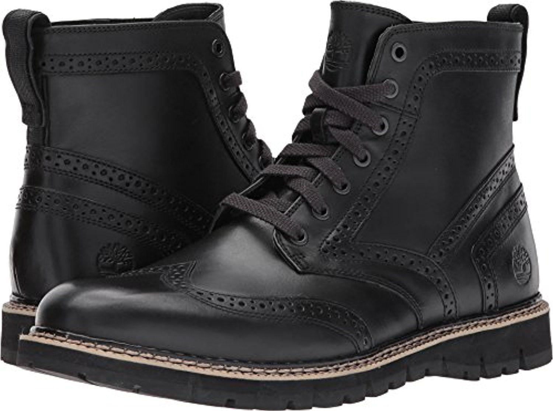 16228f7fdb8 Timberland Mens Britton Hill Wingtip Boots Black Old Harness 10 M ...