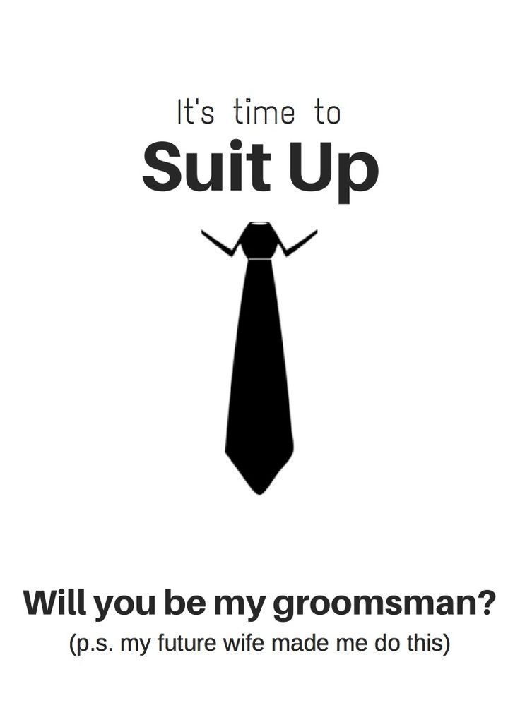 Are you looking for a great (free!) option for a Groomsmen