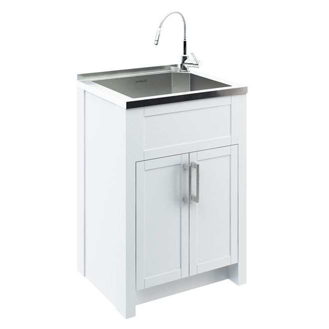 Odyssey Stainless Steel Laundry Tub With Cabinet