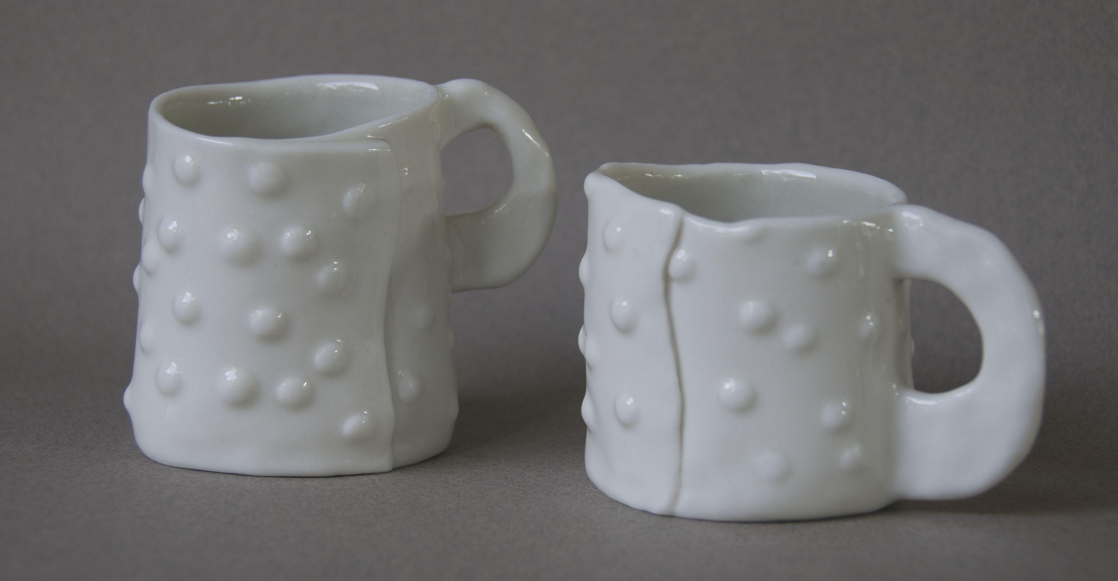 Wrap Cups With Dots Porcelain 10X7X8 Cm $35 Each