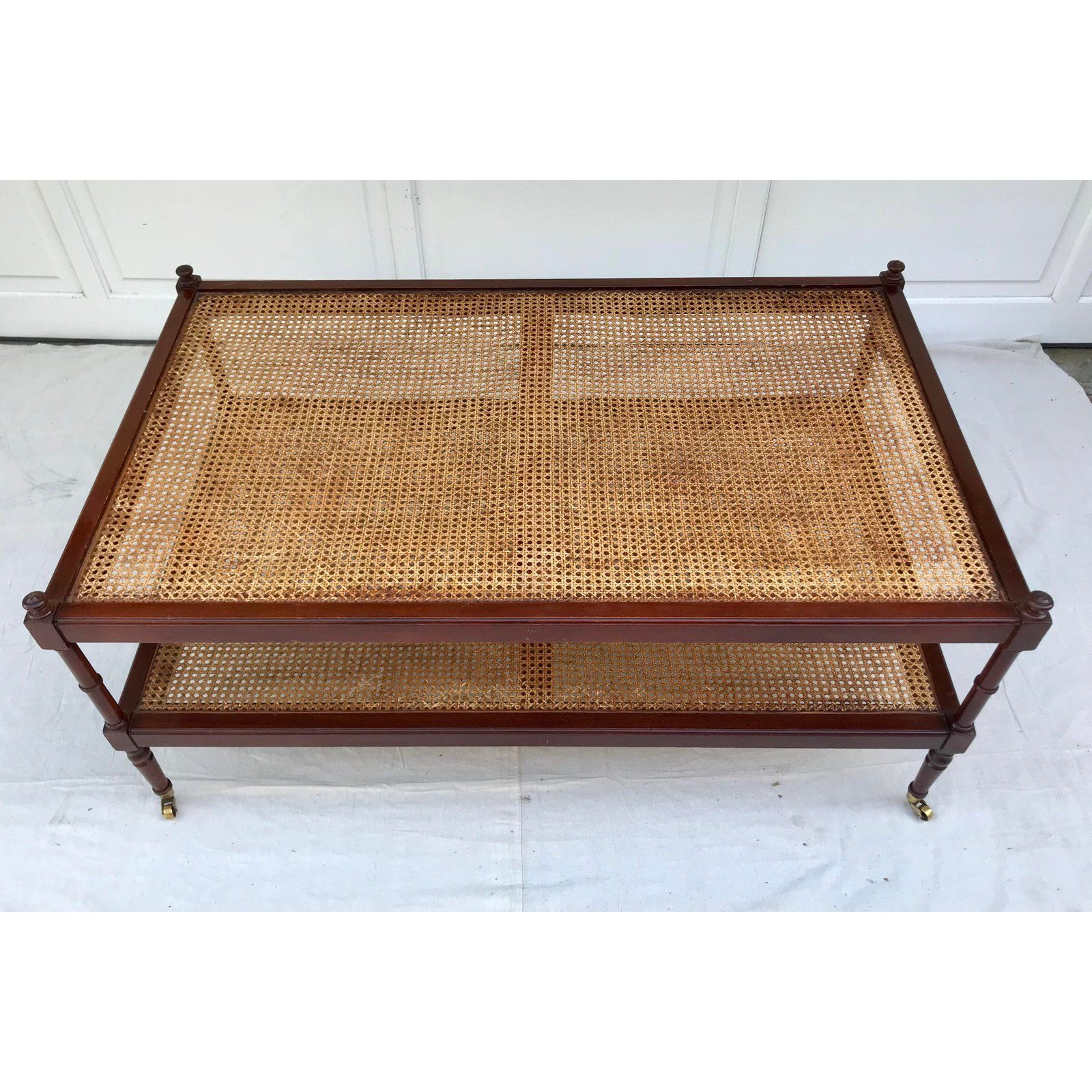 Baker Furniture Company Americana Baker Furniture Cane Coffee Table On Brass Wheels For Sale Image 4 Of 8 Coffee Table Baker Furniture Home Living Room [ 1600 x 1600 Pixel ]