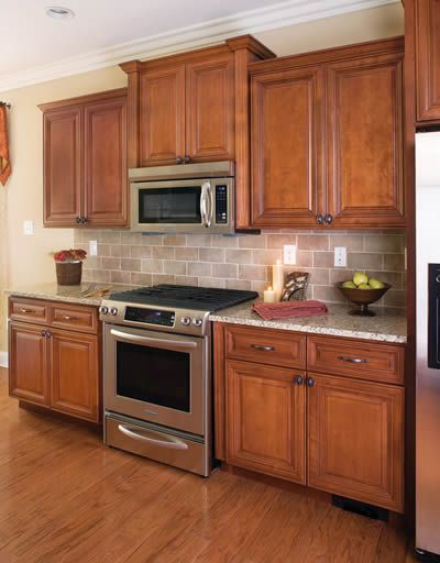 Madison Cabernet Traditional Kitchen Cabinets Home Kitchen