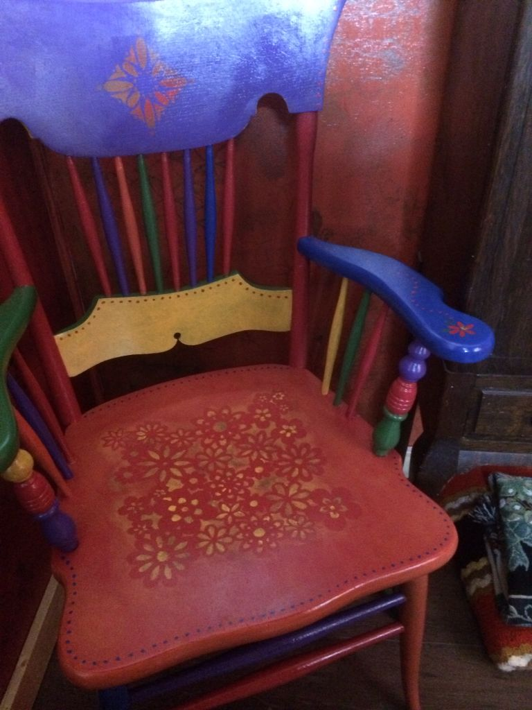 My painted chair