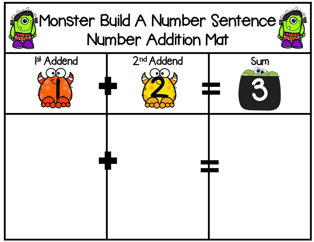 Monster 2 Addend Addition Amp Subtraction With Ten Frames