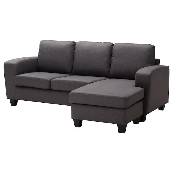 Friheten Hoekslaapbank Skiftebo Donkergrijs Ikea.Balderum Two Seat Sofa With Chaise Longue Skiftebo Dark Grey