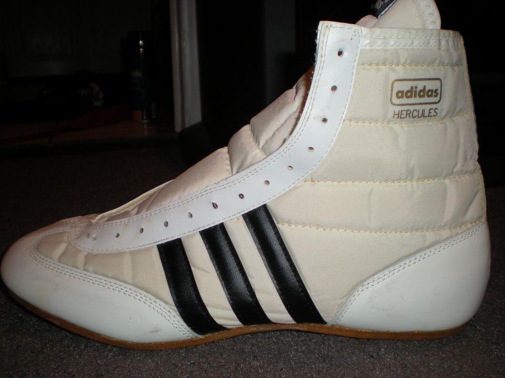 extraño Estallar Obstinado  GONE GONE GONE Adidas Hercules-White/Black | Wrestling boots, Boxing boots,  Wrestling shoes