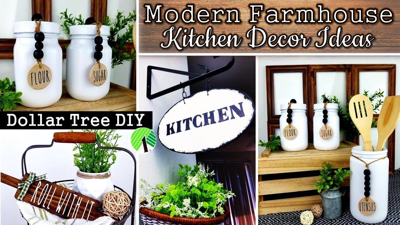 DOLLAR TREE DIY | FARMHOUSE KITCHEN DECOR | DIY HOME DECOR ...