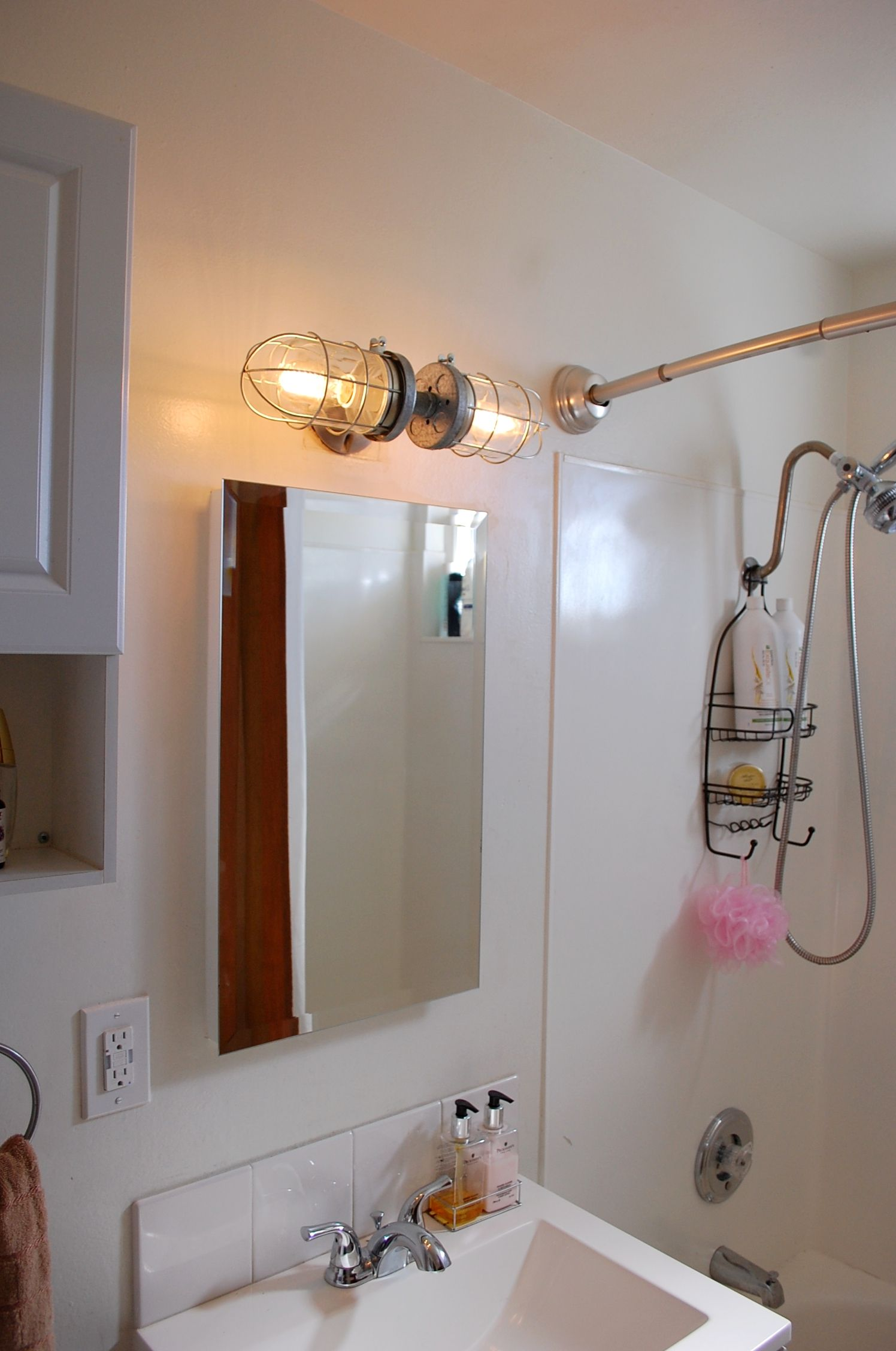 light carnetdebord lighting shelf bathroom me diy vanity pipe industrial vanit