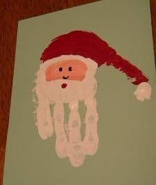 Handprint Santa How Cute