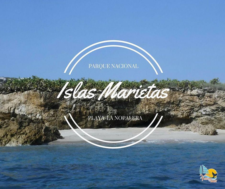 Playa La Nopalera, localizada en el Parque Nacional Islas Marietas. ¡Aventúrate y descubre la diversidad de aves y peces que viven en este bello lugar! Salidas: todos los días 9:00am Terminal Marítima de Puerto Vallarta