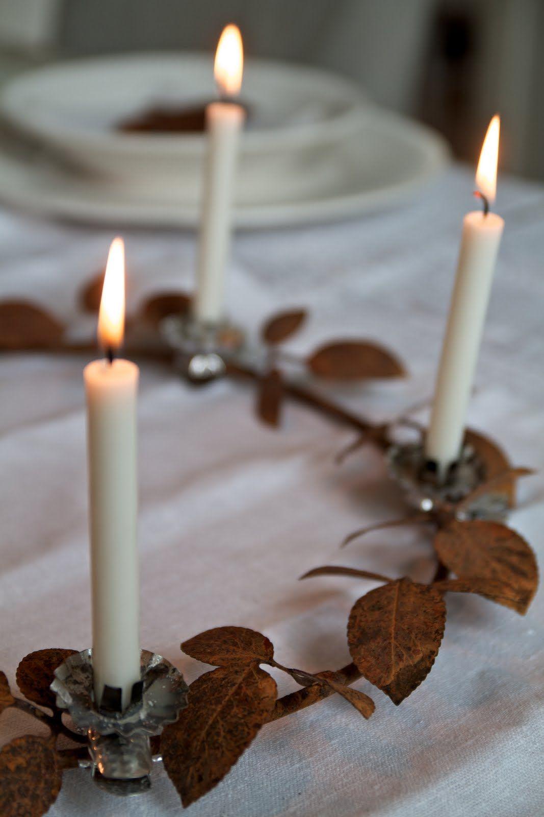☀ sinos e luzes - Wreath candle holder.