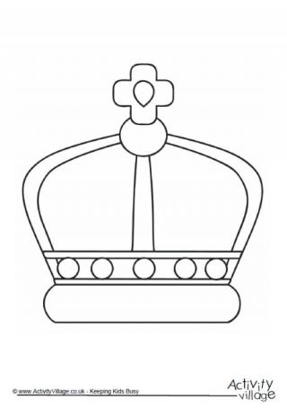 Crown Colouring Page 2 | Queens 90th Birthday | Pinterest | Crown ...